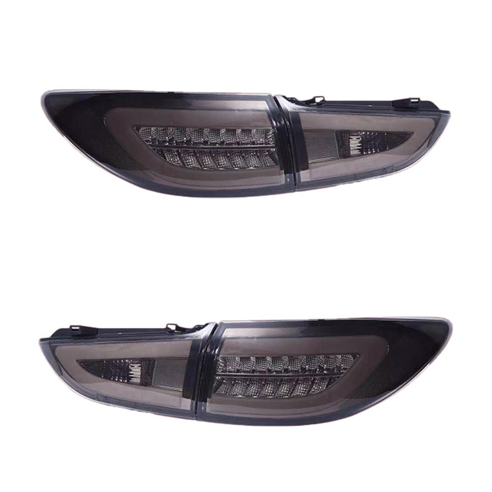 マセラティ スタイル 改装LED 流れるウインカー スモーク仕様 USEKA マツダ アテンザ セダン専用 テールランプ テールライト リアライト おすすめ特集 新品 TAIL 2014-2017 MAZDA 左右4点セット 14年以後 ATENZA スモーク FOR LED LIGHT 期間限定で特別価格 改装LEDライト