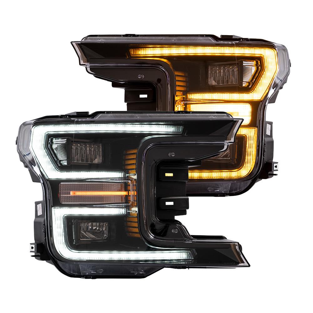 フォードF150ラプター ヘッドライト 全LED 昼間ランニングライト 流れるウインカー USEKA フォード F150 F-150 ラプター ヘッドライト全LED仕様 左右2点セット 新品 2018-2019 FOR ford ドレスアップ headlight 昼間ランニングライト付き 大規模セール f150 ハロゲン専用 大特価!!