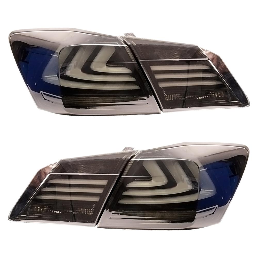 アコード 9代目 CR5 豪華な 6型 テールランプ BMW スタイル HONDA ACCORD USEKA ホンダ テールライト LED 2013-2015 TAIL 全LED 13年-15年 おしゃれ 新品 FOR スモーク リアライト LIGHT 左右セット 流れるウインカー改装