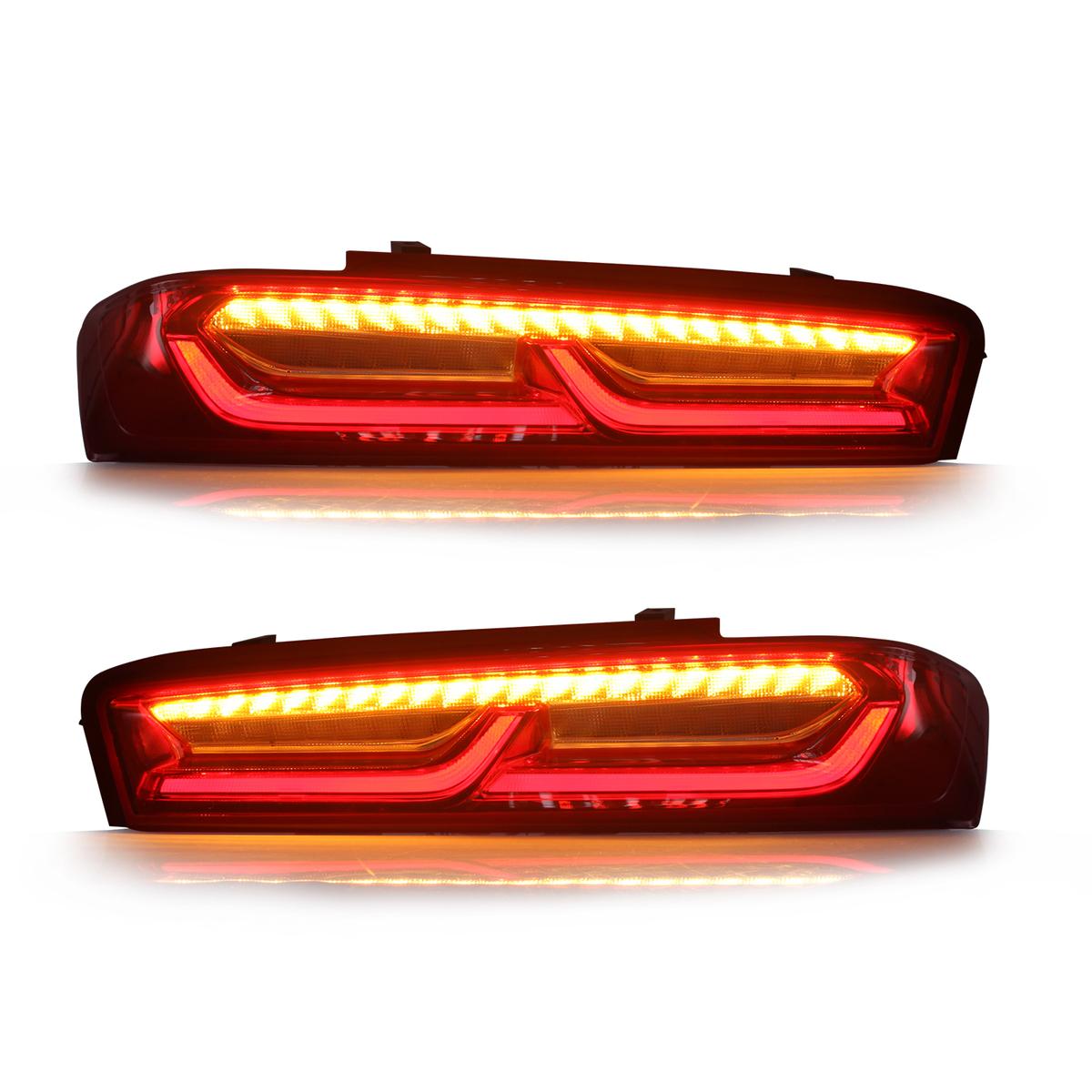 カマロ SS gen6 テールライト 新着セール CAMARO シーケンシャルウインカー USEKA シボレー 用 日本仕様 シーケンシャル LIGHT TAIL テールランプ 2015-2017LED Chevrolet レッド FOR 新品2015-2017年 大幅値下げランキング LED 左右セット
