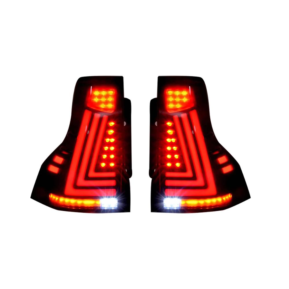 流れる ウインカー プラド 150系 USEKA トヨタ ランクル ランドクルーザー 全LED テールランプ toyota tailLIGHT LED prado 2013-2017 LAMP FOR デモンストレーション搭載 評判 左右セット新品 感謝価格