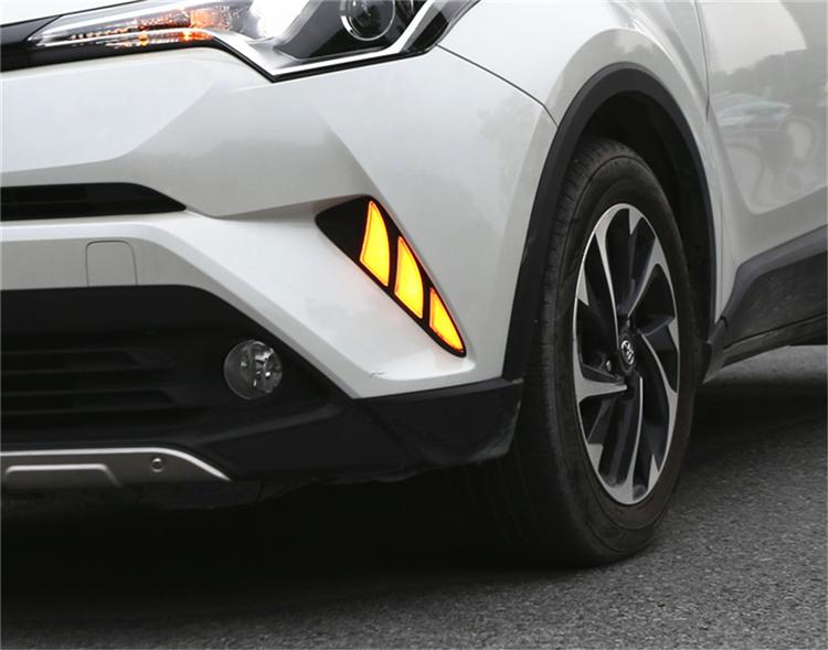 CHR C-HR ヘッドライト フォグランプ ZYX10 NGX50 USEKA トヨタ デイライト 適用 ストア 左右セット DRL 2017-2019 LED 今季も再入荷 ウインカー連動 7型 NGX50トヨタ