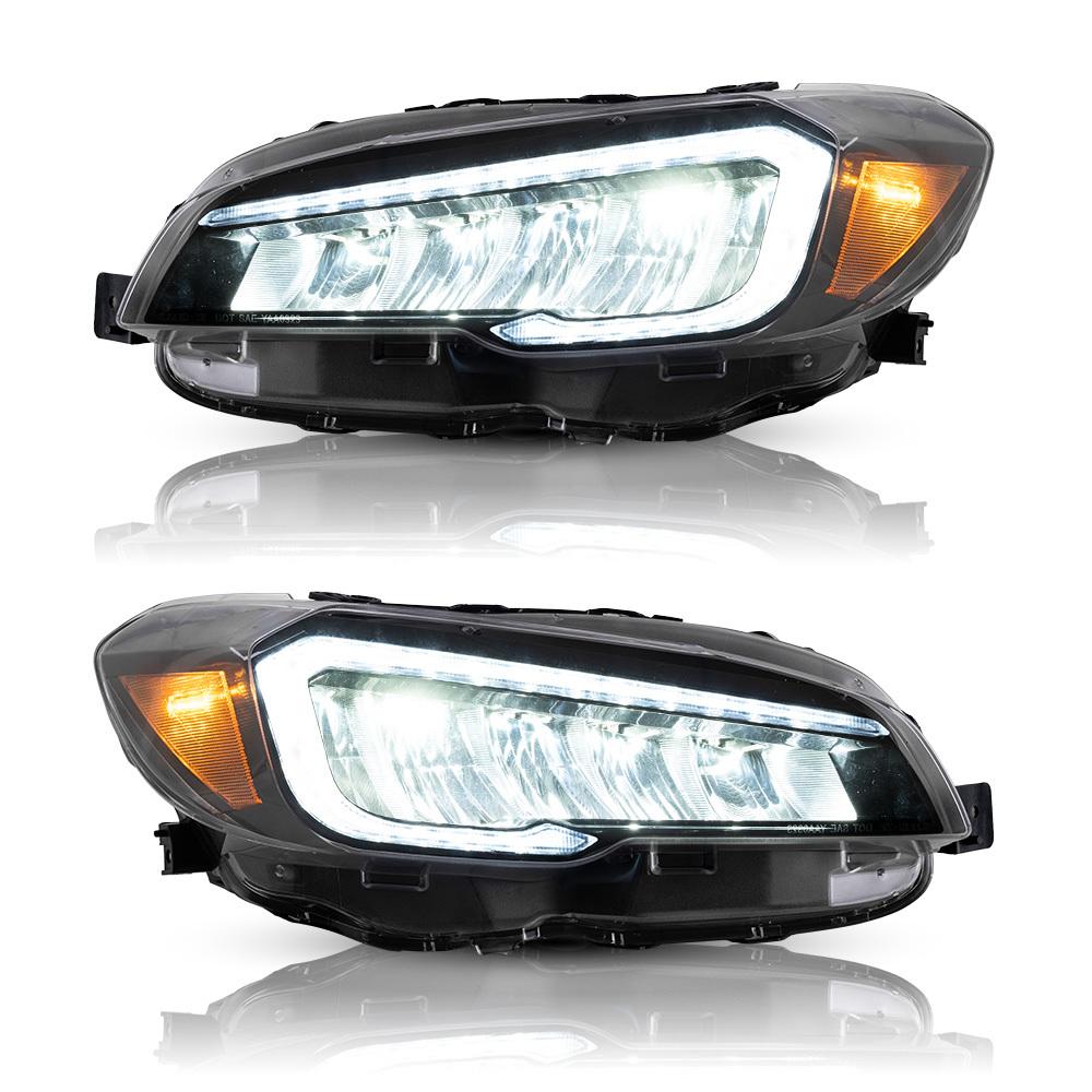 スバル WRX STI S4 全LED ヘッドライト USEKA ヘッドランプ 流れるウインカー 新品 HEADLIGHT 価格 2015-UP 高品質 昼間ランニングライト LED 左右2点セット FOR SUBARU