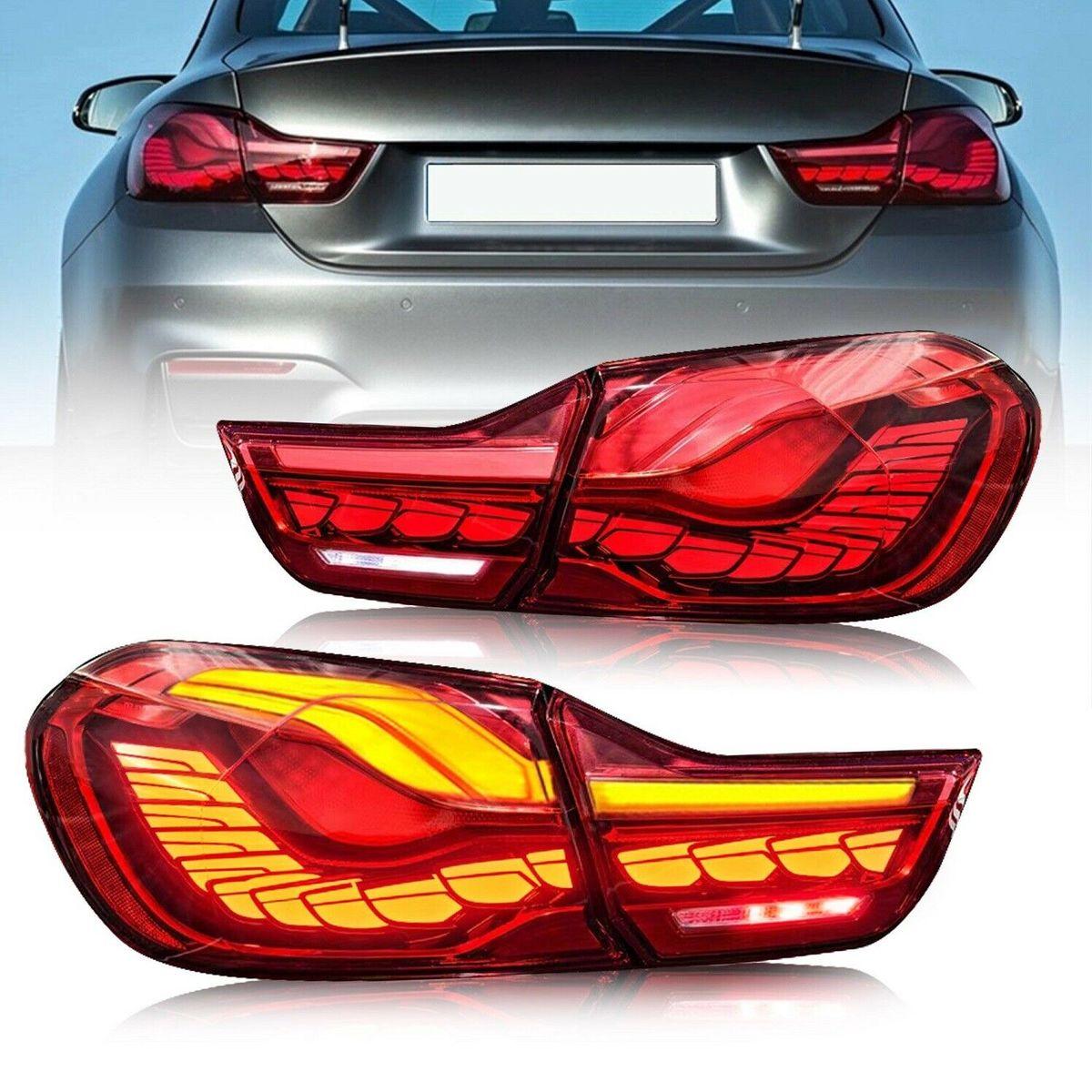 VLAND 新製 GTS CS スタイル bmw M4 4シリーズ テールラン 爆安 USEKA BMW テールランプ F83 テールライト F82 F32 2014-2020年式 CS仕様 左右2点セット新製品 F33 ファッション通販 流れるウインカー F36 オープニングモーション フォールLED