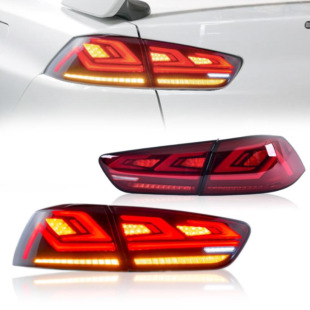 新デザイン 祝日 ランサーエボリューションX テールランプ登場 100%品質保証 USEKA 三菱 CZ4A テールランプ オープニングモーション機能付き シーケンシャルウィンカー MITSUBISHI LANCER FOR 08-18 EVOX TailLight