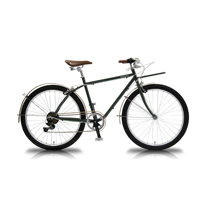 26インチ カーゴバイク 6段変速 BANGO wbg-2602 街乗り 通勤 通学 シマノ シティサイクル おしゃれ クラシカル グリーン レディース メンズ WBG-2602