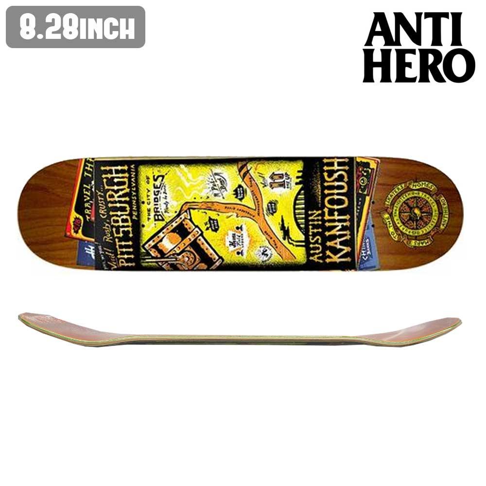 スケートボード スケボー デッキ ANTI HERO KANFOUSH MAPS TO SKATERS HOMES PT2 板 ストリート SKATE DECK アンチヒーロー 【inch:8.28】 あす楽 福袋