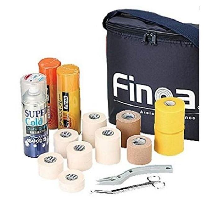 Finoaトレーナーズバッグキット ネイビー m948vog380 テーピング 固定用 テーピング 足首 ひじ ひざ 筋肉保護