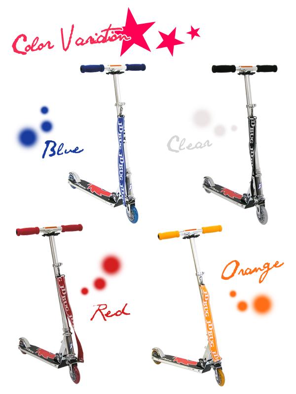 킥 보드 어린이 킥 보드 킥 스쿠터 어린이용 키즈 red blue orange black 레드 블루 오렌지 블랙 뒷바퀴 브레이크 접이식 스트랩 고무 정지 제한 선물 jd razor jd bug MS-101J2