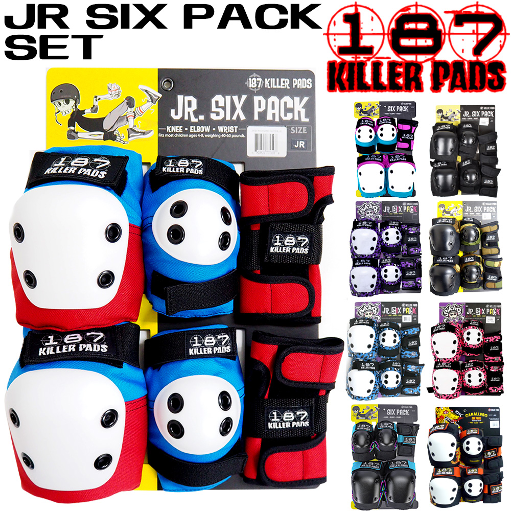 Staab Pink 187 Killer Pads Jr Protective Six Pack