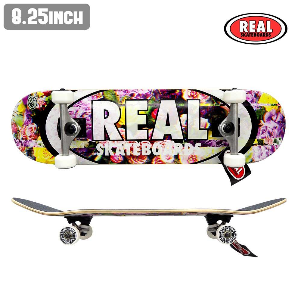 スケートボード スケボー コンプリート セット 完成品 COMPLETE REAL リアル RS OVAL GLITCH XL ストリート SKATE あす楽 福袋 公式 正規店【inch:8.25】