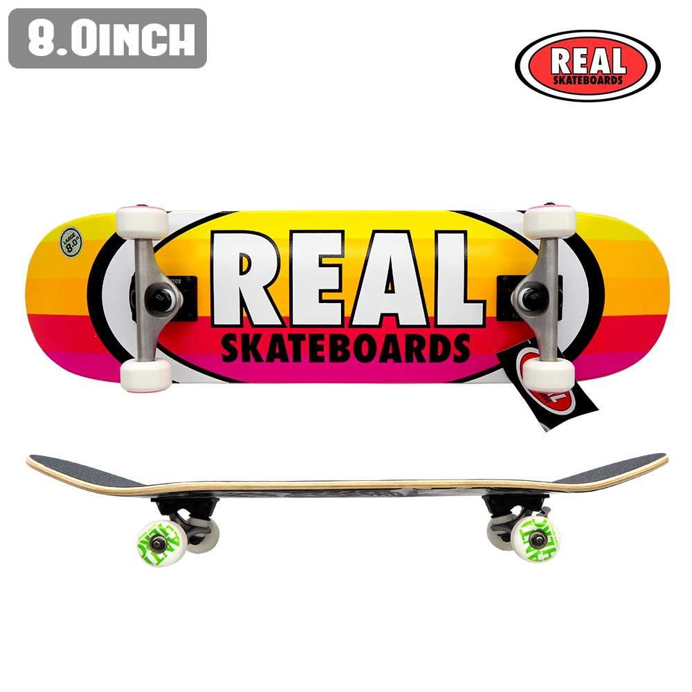 スケートボード スケボー コンプリート セット 完成品 COMPLETE REAL リアル RS OVAL STRIPES LG ストリート SKATE あす楽 福袋 公式 正規店【inch:8.0】