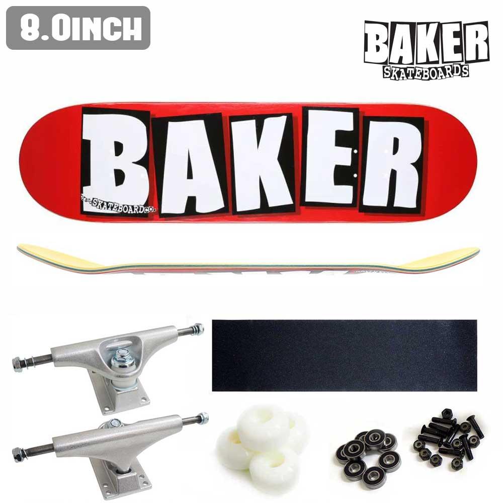 BAKER BAKER コンプリート 初心者 DECK LOGO スケボー セット ベイカー WHITE 正規店 あす楽 【inch:8.0】 スケートボード ストリート BRAND DECK COMPLETE 公式 SKATE 完成品 組立
