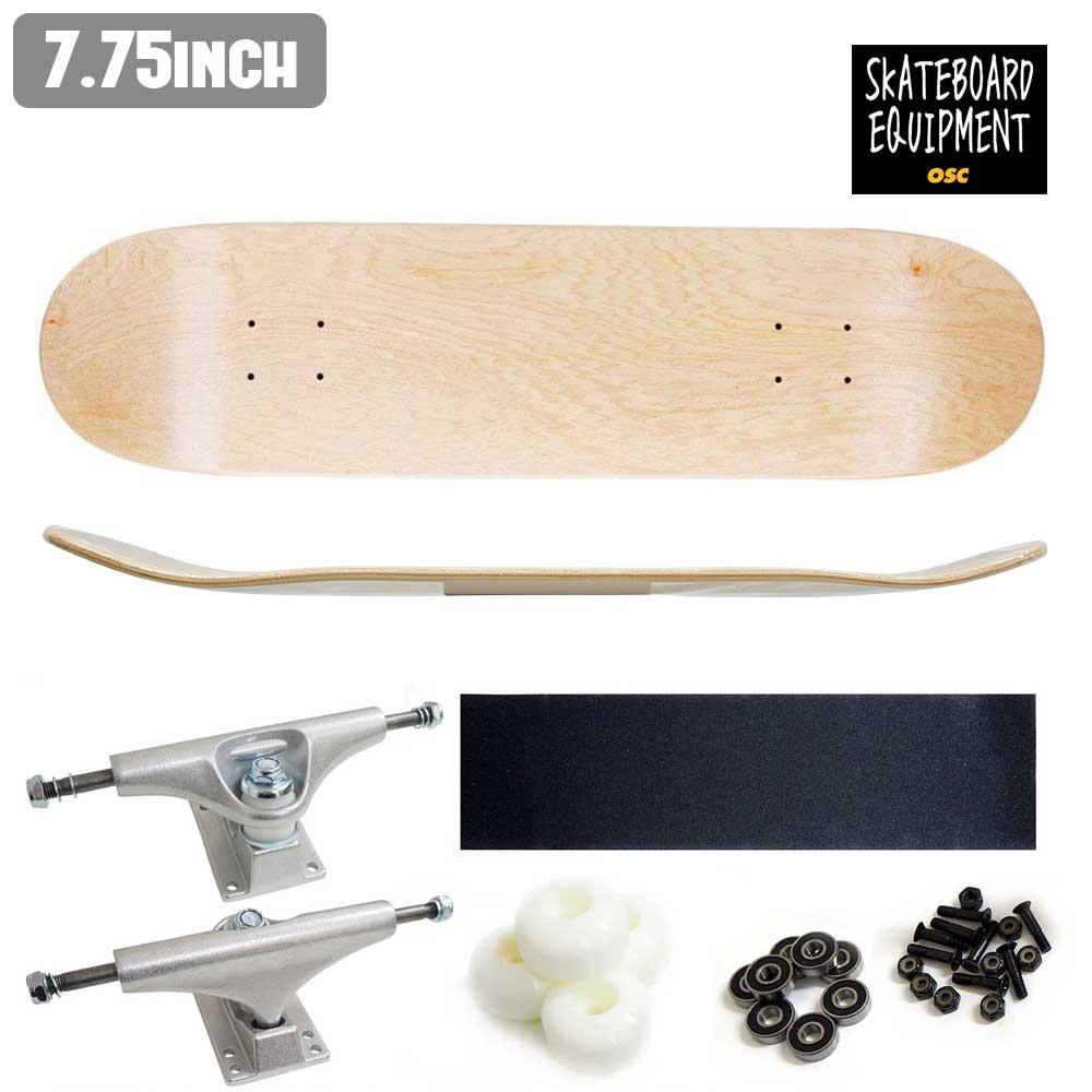 組立 Canadian 【inch:7.75】 スケボー OSC BLANK DECK(100% 初心者 コンプリート ストリート 公式 正規店 スケートボード 完成品 maple) オーエスシー COMPLETE SKATE セット あす楽