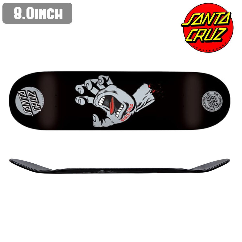 スケートボード スケボー デッキ SHOWGEKI ショウゲキ SCREAMING HAND BLK 板 ストリート SKATE DECK あす楽 福袋 公式 正規店【inch:8.0】