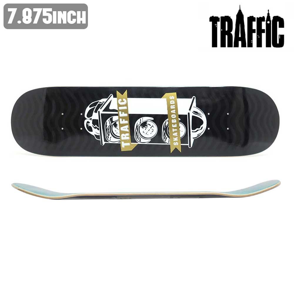 スケートボード スケボー デッキ TRAFFIC トラフィック LIGHT CREST BLACK 板 ストリート SKATE DECK あす楽 福袋 公式 正規店【inch:7.875】