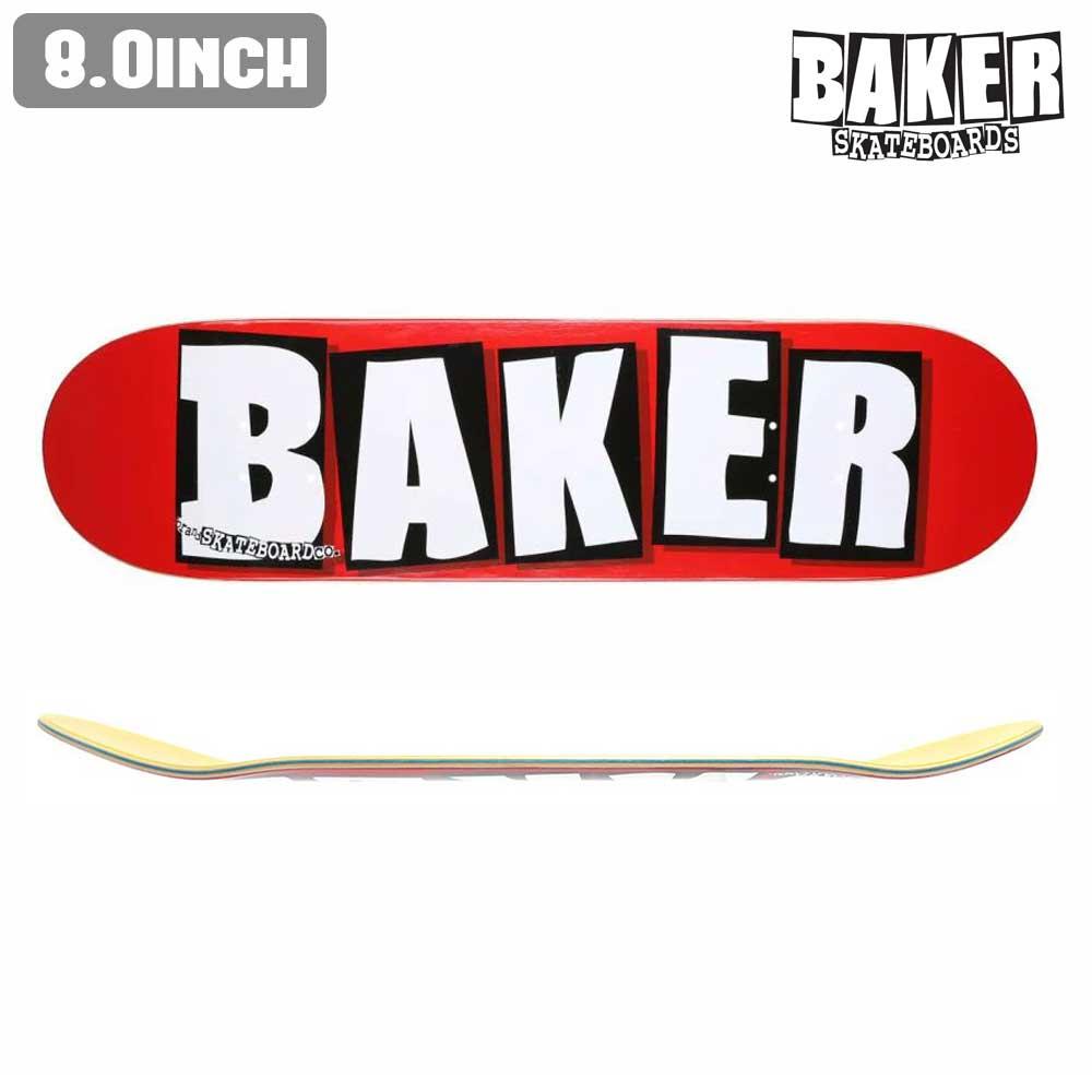 スケートボード 福袋 BRAND 板 8.0×31.5 BAKER あす楽 DECK 正規店【inch:8】 ベイカー 公式 デッキ ストリート スケボー WHITE DECK LOGO SKATE