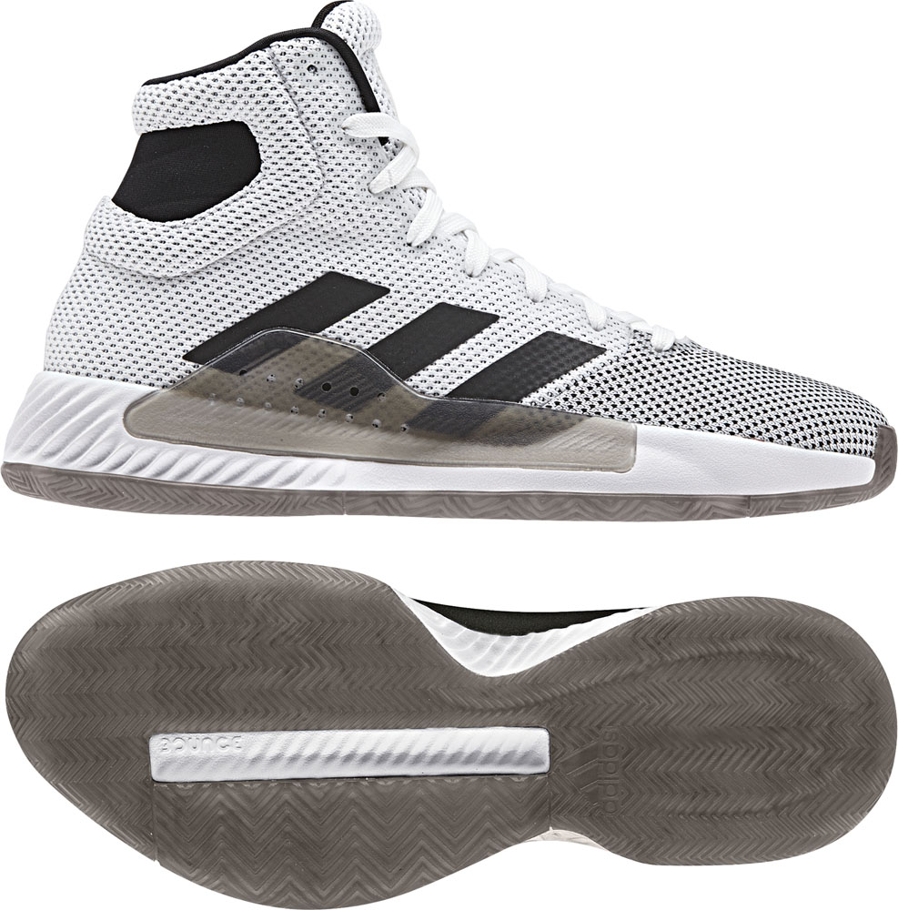 Pro Bounce Madness 2019 adidas (Adidas) RUNWHT/ core BLK basketball shoes  ADJ BB9235 adj,bb9235