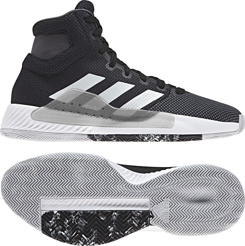 Pro Bounce Madness 2019 adidas (Adidas) core BLK/RUNWHT basketball shoes  ADJ BB9239 adj,bb9239