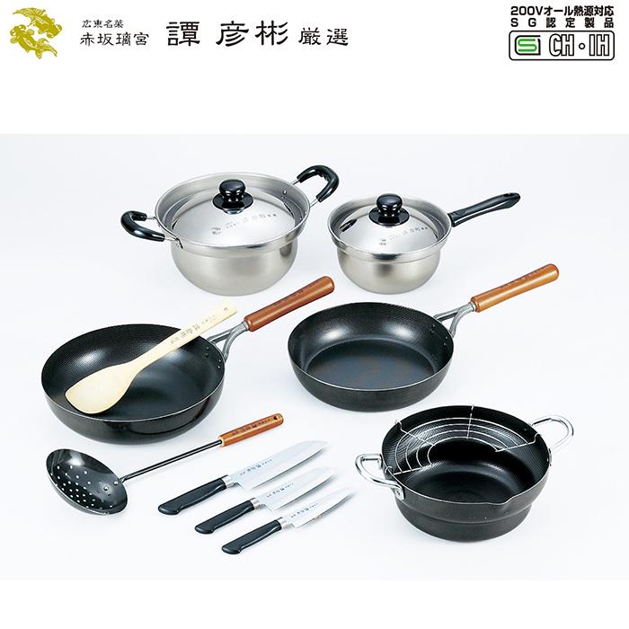 調理道具8点セット IHガス火両方対応 鉄製 本格的 中華料理 調理 譚彦彬厳選