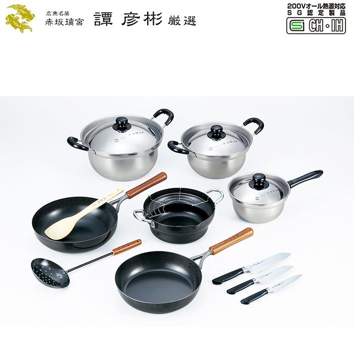 調理道具9点セット IHガス火両方対応 鉄製 本格的 中華料理 調理 譚彦彬厳選
