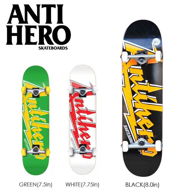 スケートボード コンプリート 特別価格 ANTI HERO アンタイヒーロー VOLTS 完成組立品 キッズ 子供用 スケボー アンチヒーロー デッキ ボード 7.5 7.75 8.0