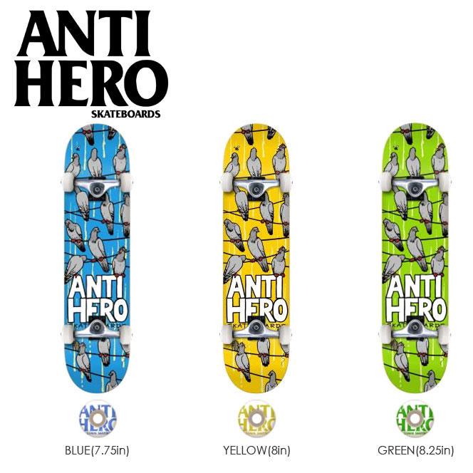 スケートボード コンプリート ANTI HERO アンタイヒーロー デッキ CONFERENCE CALL 完成組立品 キッズ 子供用 レディース メンズ スケボー アンチヒーロー ボード 7.75 8.0 8.25in