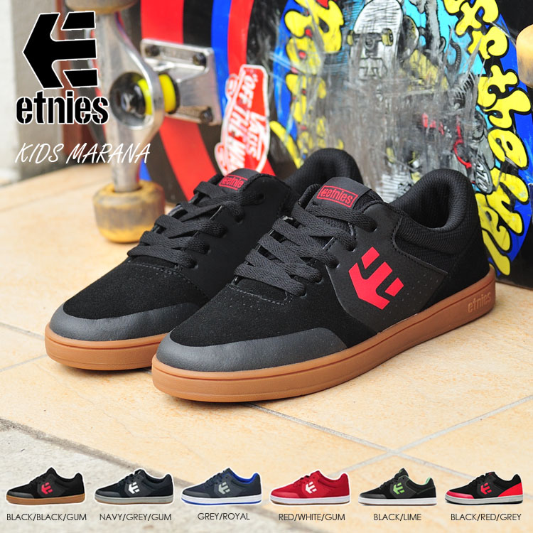 Etnies Kids Marana Navy Grey Gum Youth Skateboard Shoes