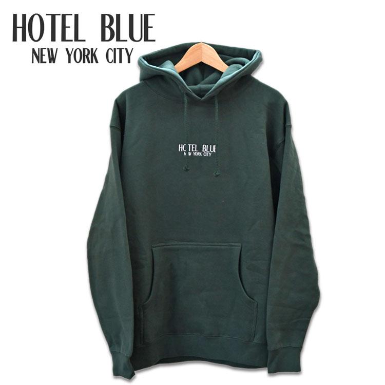 送料無料 ホテルブルー パーカー スウェットパーカー フーディー グリーン ニューヨーク HOTEL BLUE Logo Hoody Alpine Green スケートボード
