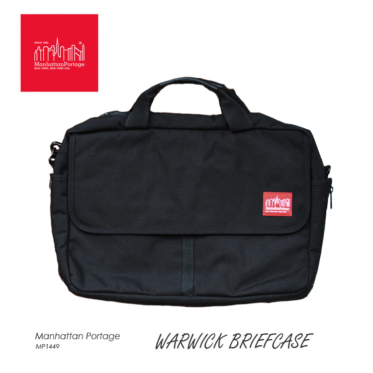 マンハッタンポーテージ ブリーフケース ワーウィック Manhattan Portage Warwick Briefcase 2WAY 通勤 通学 カバン ブラック 1449