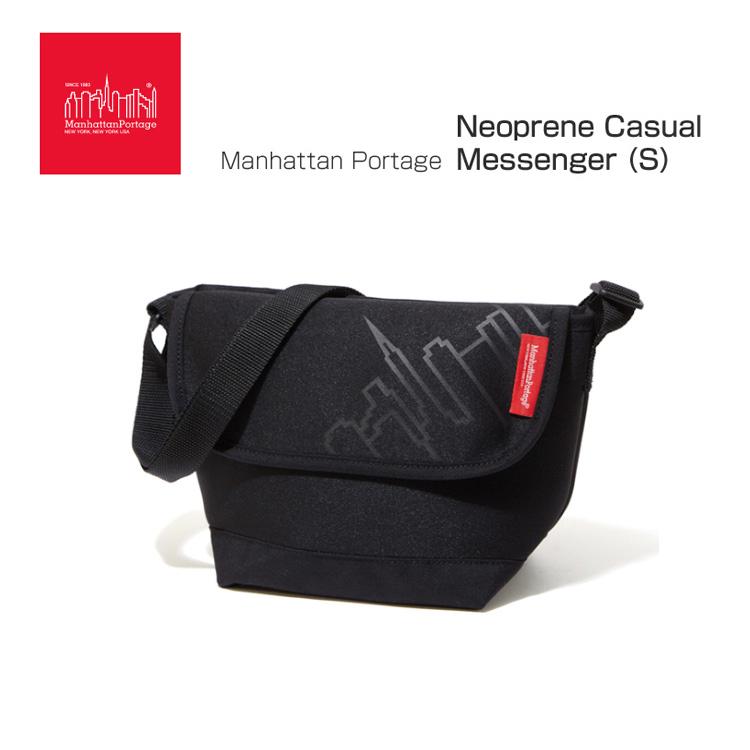 マンハッタンポーテージ Manhattan Portage MP1605JRNP2 ネオプレーンカジュアルメッセンジャー (S) BLACK Neoprene Casual Messenger (S) 自転車
