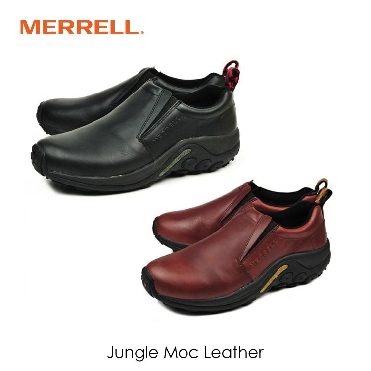 メレル ジャングルモック レザー メンズ スリッポン 通勤 ウォーキング MERRELL JUNGLE MOC LEATHER BLACK/567113 D.BROWN/567117