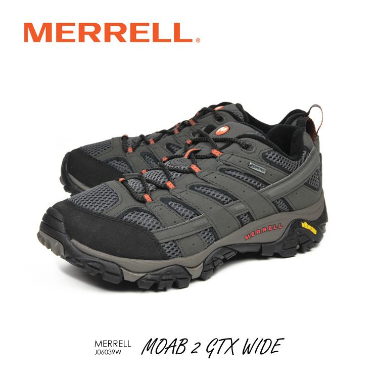 メレル モアブ2 ゴアテックス ワイド 幅広 J06039W MERRELL MOAB2 GTX WIDE WIDTH 登山 富士山 野外フェス