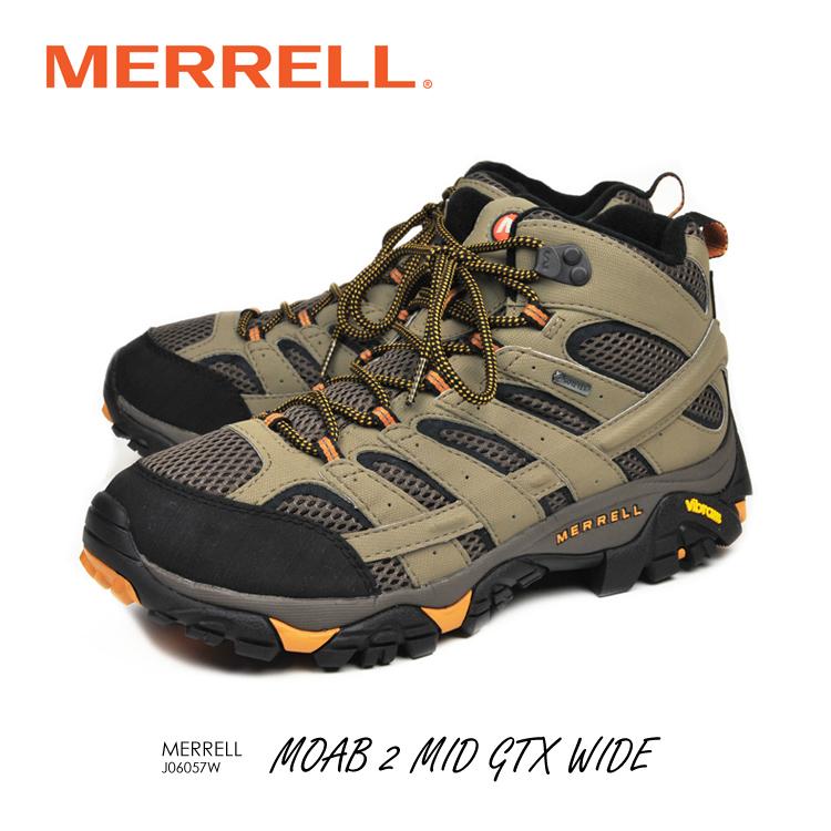メレル モアブ2 ミッド ゴアテックス ワイド 幅広 J06057W MERRELL MOAB2 MID GTX WIDE WIDTH 登山 富士山 野外フェス