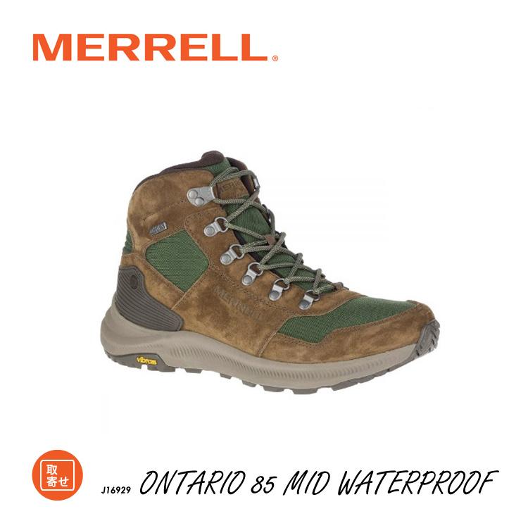 MERRELL メレル オンタリオ 85 ミッド ウォータープルーフ J16929 ONTARIO 85 MID WATERPROOF ハイキング キャンプ フェス