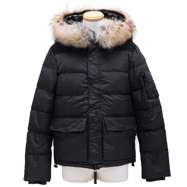 デュベティカ DUVETICA ダウンジャケット メンズ フード ブラック 48サイズ