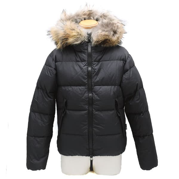 デュベティカ DUVETICA ダウンジャケット メンズ フード ブラック 44サイズ