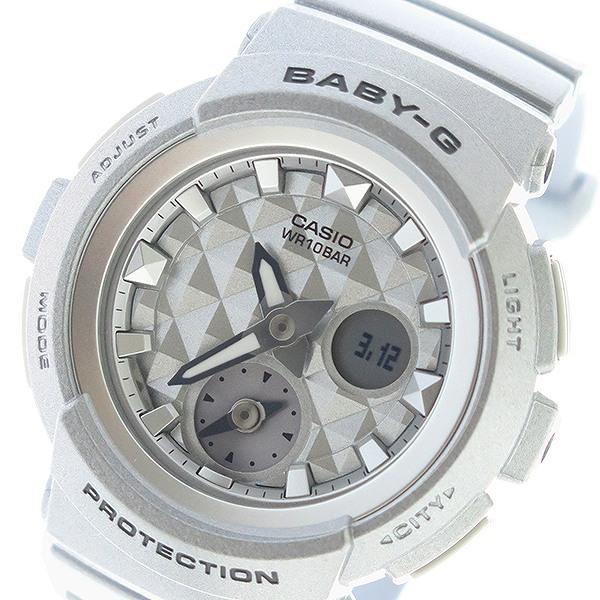 カシオ CASIO 腕時計 レディース シルバー BABY-G スタッズダイアル