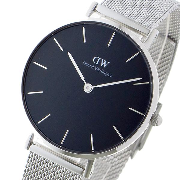 ダニエルウェリントン DanielWellington 腕時計 レディース ブラック×シルバー クラシックペティート スターリング/ブラック 32mm