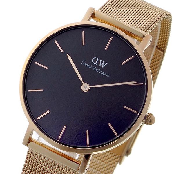ダニエルウェリントン DanielWellington 腕時計 レディース ブラック×ローズゴールド クラシックペティート メルローズ/ブラック 32mm