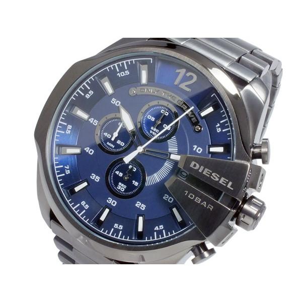 ディーゼル DIESEL 腕時計 メンズ クロノグラフ ブルーブラック
