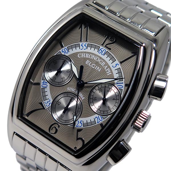 エルジン ELGIN 腕時計 メンズ クロノグラフ グレー