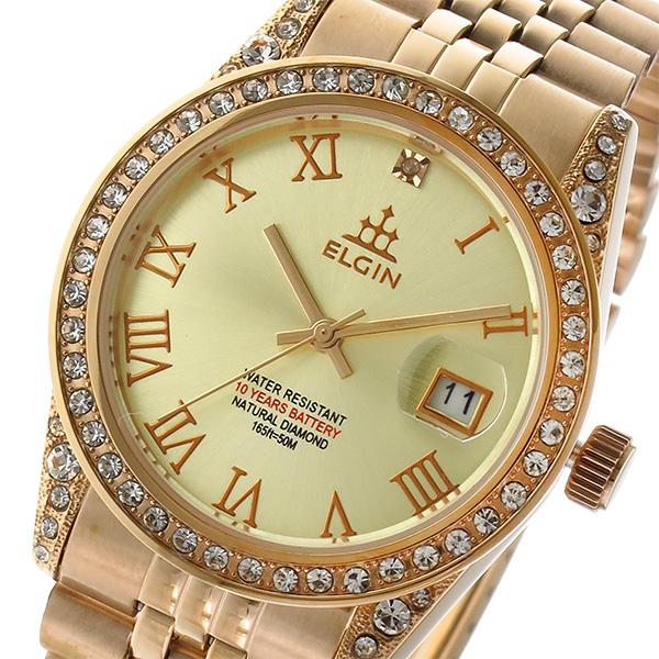エルジン ELGIN 腕時計 レディース ゴールド×ピンクゴールド