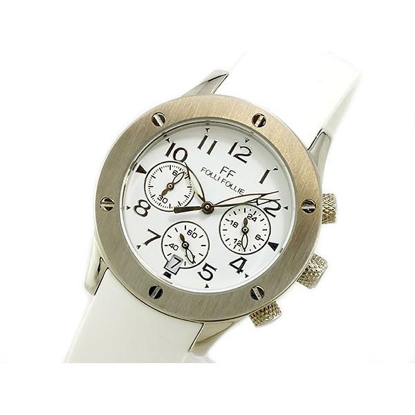 フォリフォリ Folli Follie 腕時計 レディース クロノグラフ ホワイト