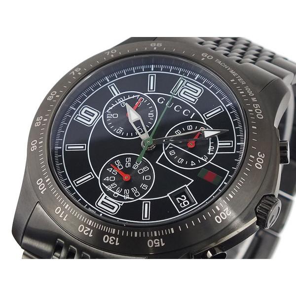 グッチ GUCCI 腕時計 メンズ クロノグラフ ブラック Gタイムレス