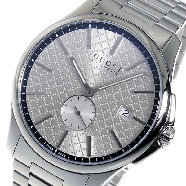 グッチ GUCCI 腕時計 メンズ 自動巻き シルバー Gタイムレス