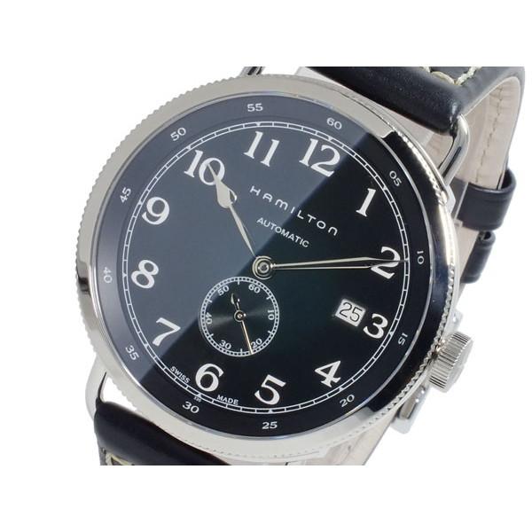 ハミルトン HAMILTON 腕時計 メンズ 自動巻き レザー ブラック カーキ KHAKI