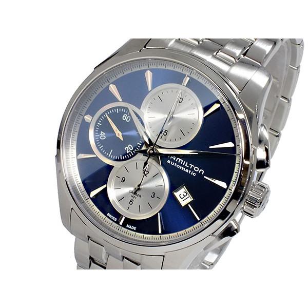 ハミルトン HAMILTON 腕時計 メンズ 自動巻き クロノグラフ ブルー×シルバー ジャズマスター JAZZMASTER