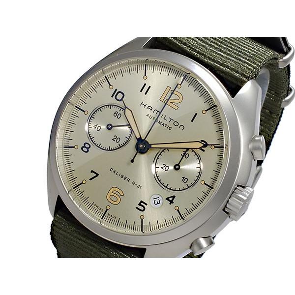 ハミルトン HAMILTON 腕時計 メンズ 自動巻き クロノグラフ ブラック×カーキ カーキ パイロット パイオニア