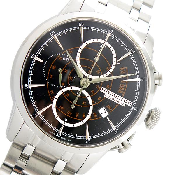 ハミルトン HAMILTON 腕時計 メンズ 自動巻き クロノグラフ ブラック レイルロード